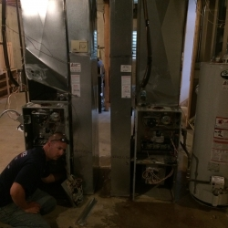 Installation of 97 percent High efficiency Furnaces